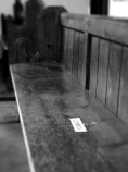 An alternate view of the pew reserved for the Clements.