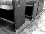Still some work to do for the new owners on those pews.
