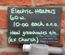 Only £10 each for the now redundant electric heaters
