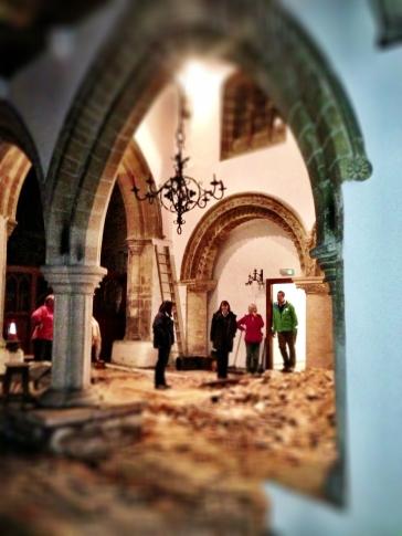 David, Linda, Anita, Florence & Jim look at the piles of rubble.