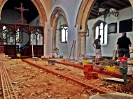 The three walls clearly visible. Still plenty of rubble to remove from the South Aisle.