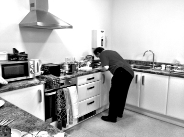 Dave French preparing the refreshments.