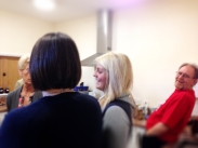 Anita & Rachael Clements in deep discussion with Lyn Broughton while Dave French does his best not to be in the picture!