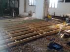 Floor joists in the nave.