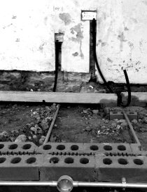Concrete lintel which will act as support to the floor joists