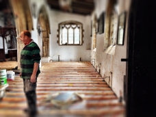 South Aisle with David casting an eye over the Nave