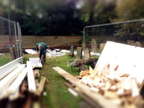 The rain holds off to enable some of the work to be done outside