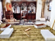 Underfloor heating - trays going down in the Nave