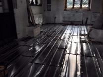 Radiators in the South Aisle & underfloor heating