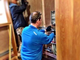 Jim tackles the electrics for the heating control