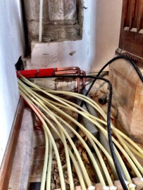 Approximately 1000m of pipe has been used in the underfloor heating