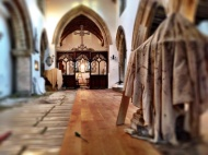 New floor from Font to Chancel