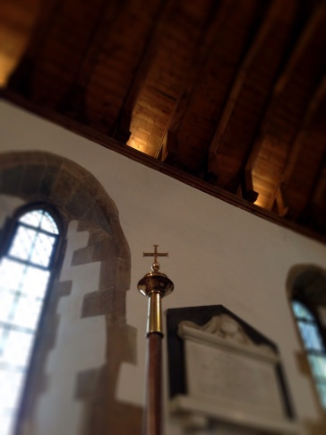 Uplighters in the Chancel