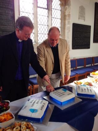 David & Bishop Tony cut the Celebration Cake