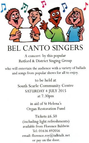 Bel Canto Singers Concert