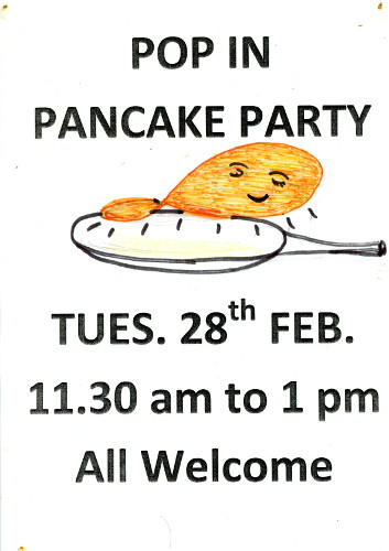Pop in Pancake Party